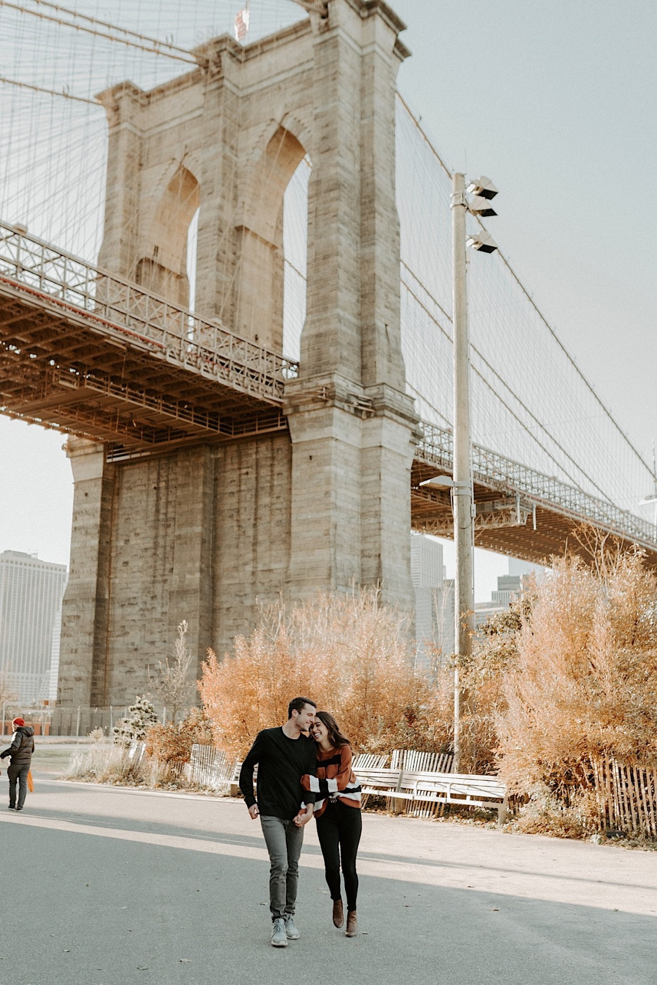 Brooklyn Bridge Sunset Engagement Photos New York City Wedding Photographer 014