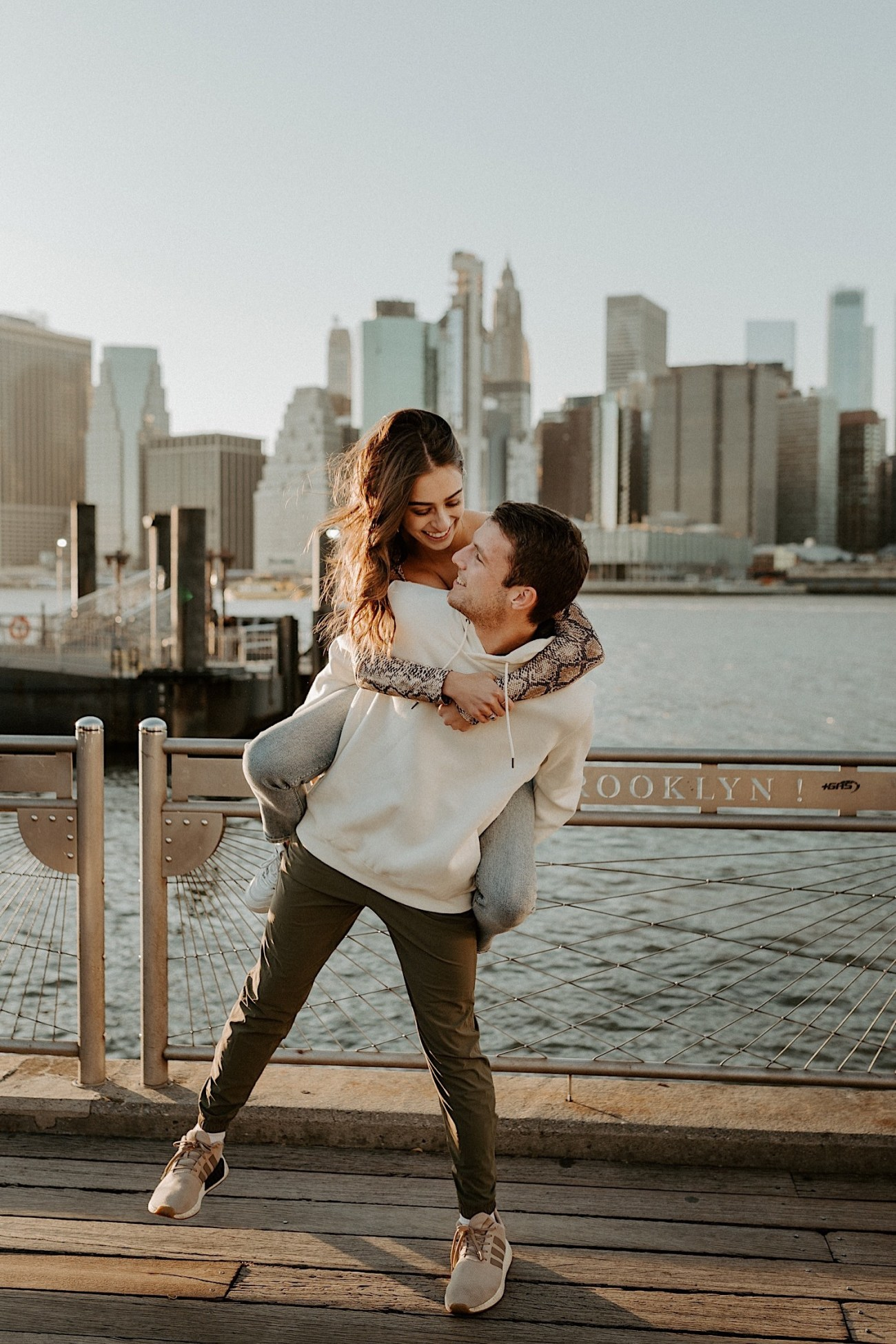Brooklyn Bridge Sunset Engagement Photos New York City Wedding Photographer 019