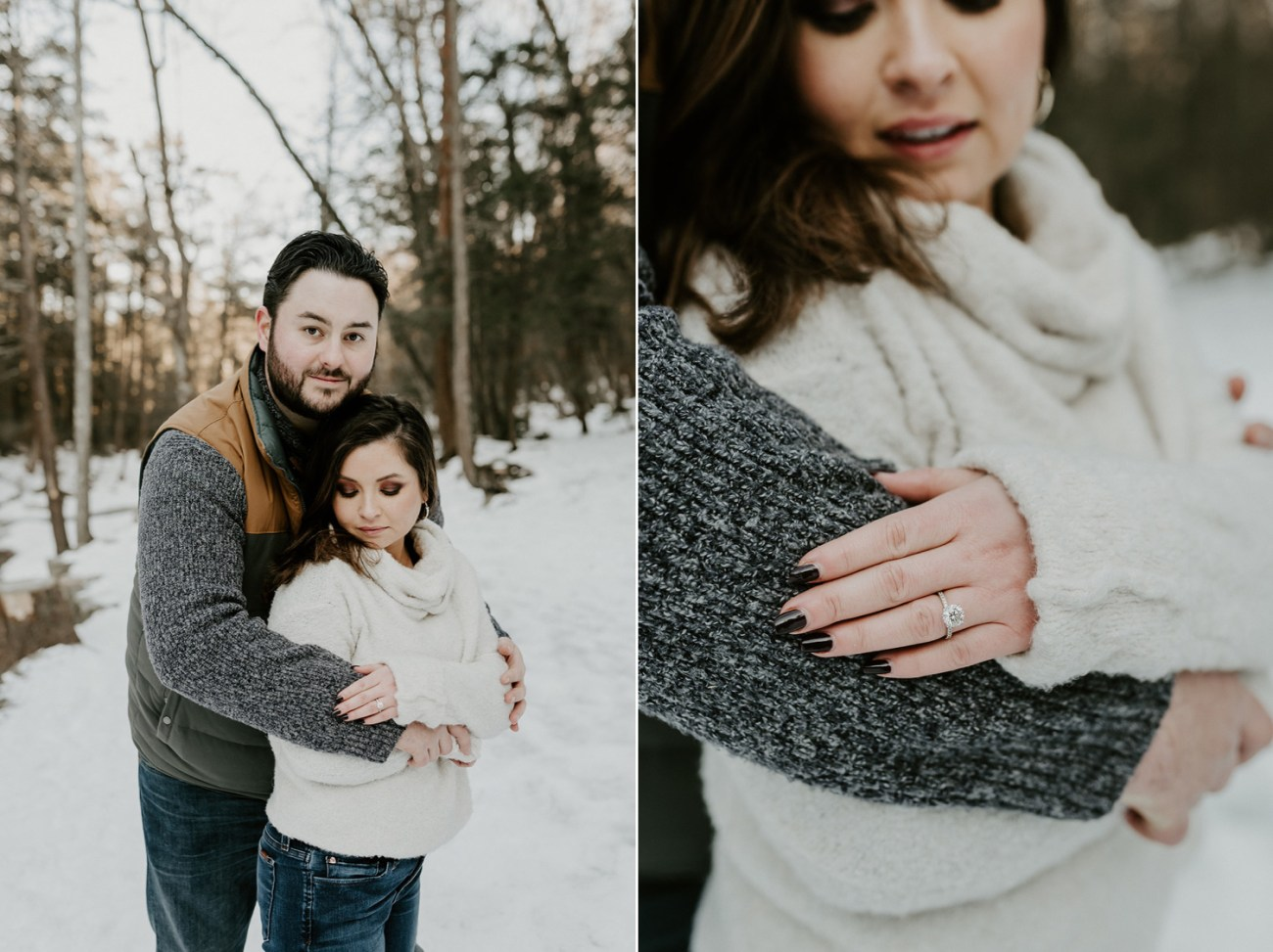 Minnewaska Engagement Session Winter Engagement Session New York Wedding Photographer