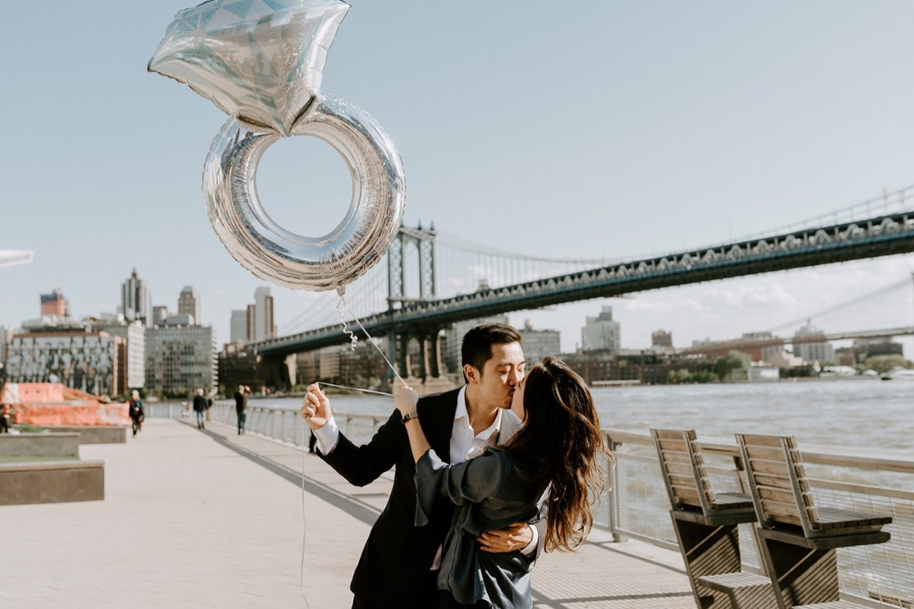New York City Proposal NYC Wedding Photographer Downtown Manhattan Engagement Session 2