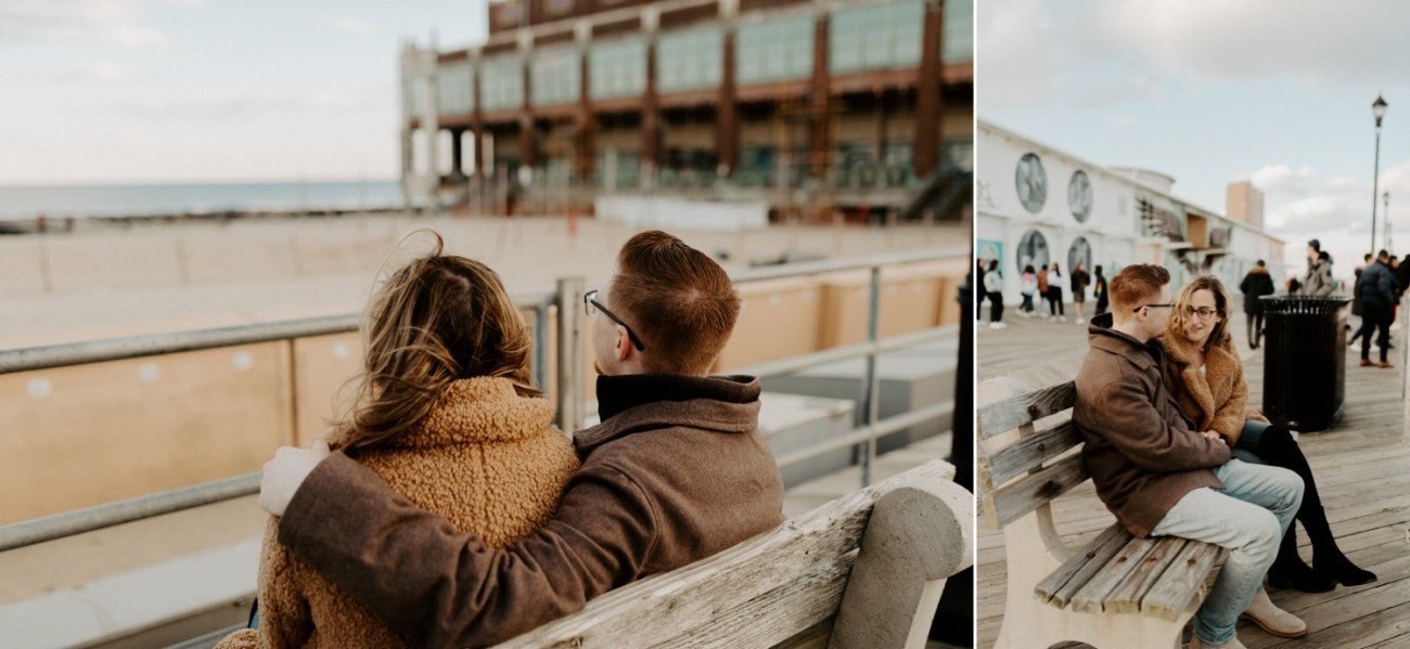 Asbury Park Engagement Photos Winter Beach Engagement Session New Jersey Wedding Photographer Anais Possamai Photography 005