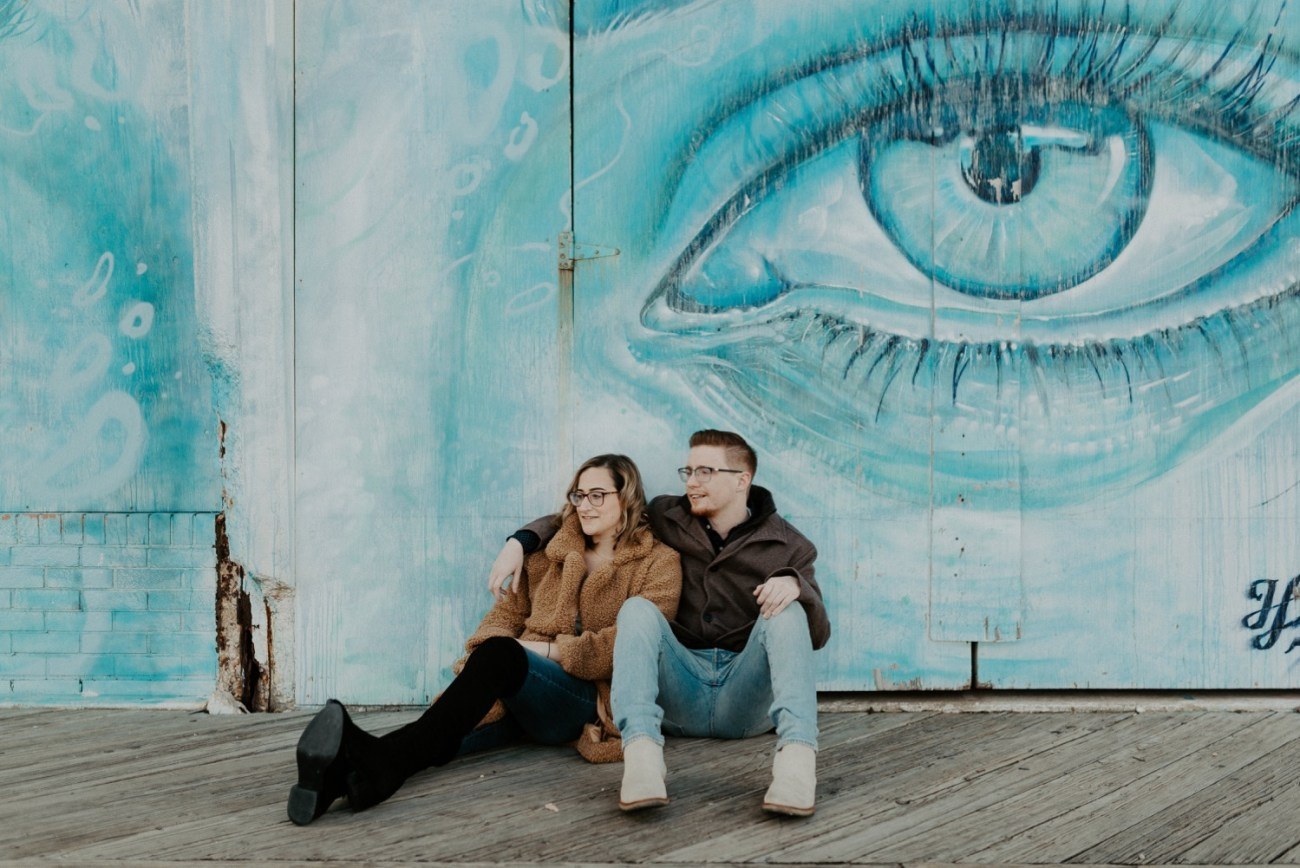 Asbury Park Engagement Photos Winter Beach Engagement Session New Jersey Wedding Photographer Anais Possamai Photography 008