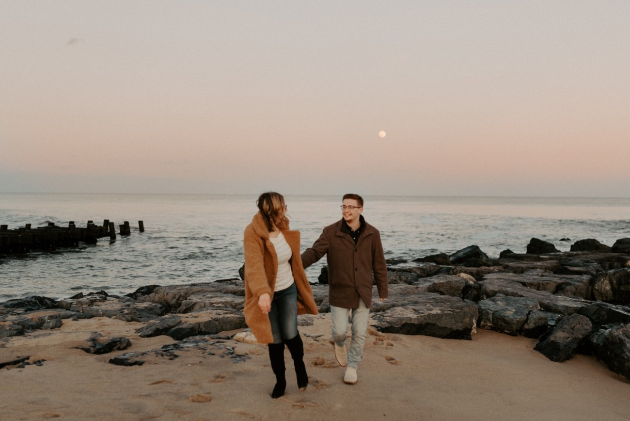 Asbury Park Engagement Photos Winter Beach Engagement Session New Jersey Wedding Photographer Anais Possamai Photography 045