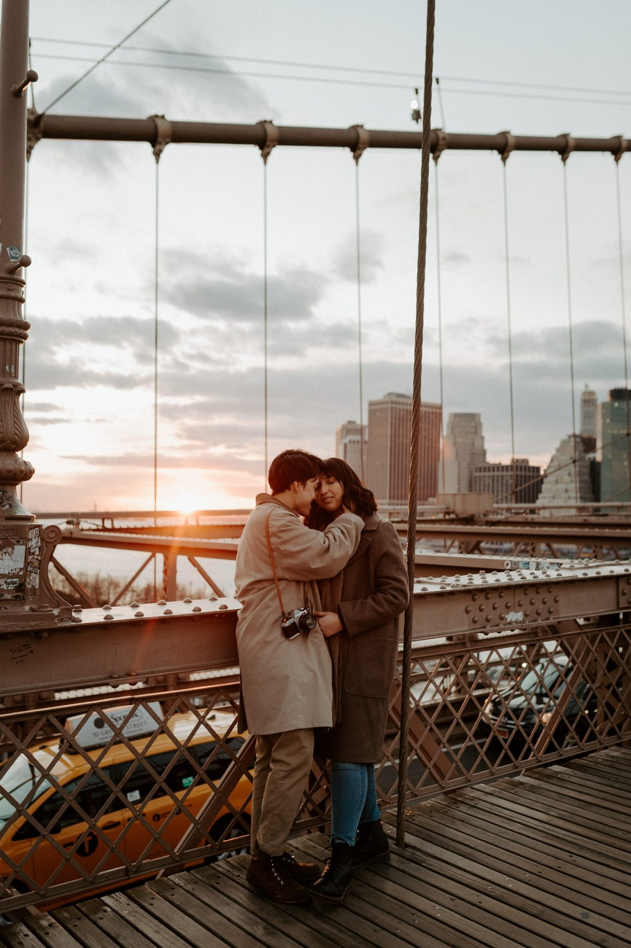 Brooklyn Bridge Sunset Couple Session New York Wedding Photographer NYC Best Engagement Photos Location Anais Possamai Photography 10