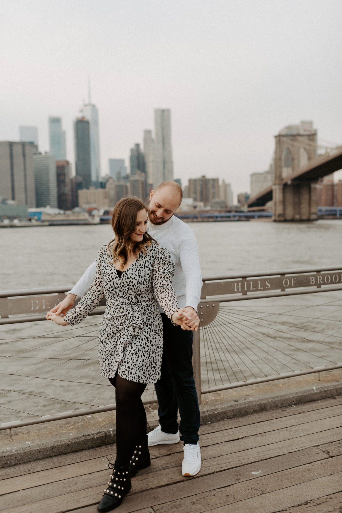 Brooklyn Bridge Engagement Photos Brooklyn Dumbo Couple Session NYC Wedding Photographer Anais Possamai Photography 02
