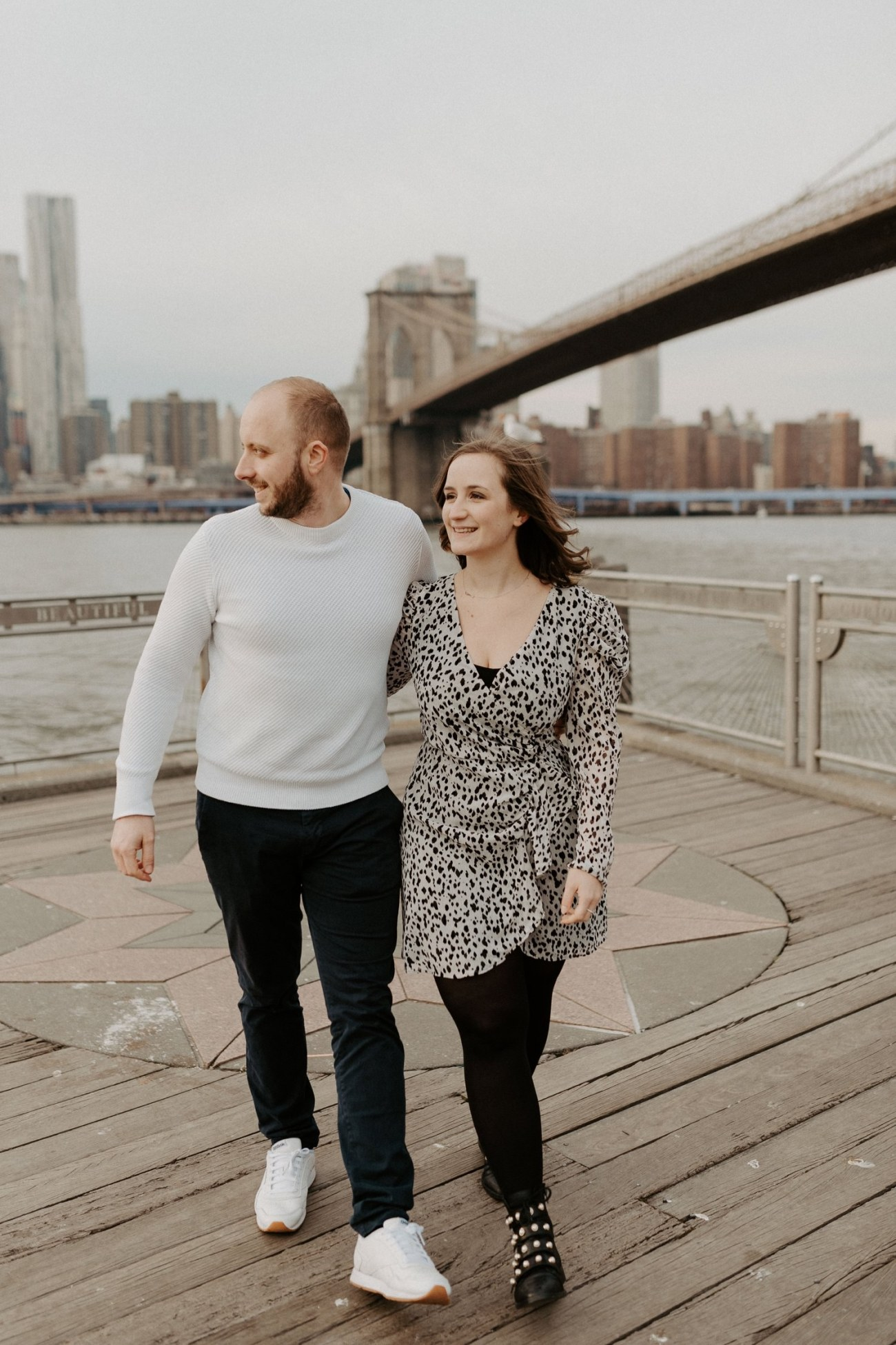 Brooklyn Bridge Engagement Photos Brooklyn Dumbo Couple Session NYC Wedding Photographer Anais Possamai Photography 06