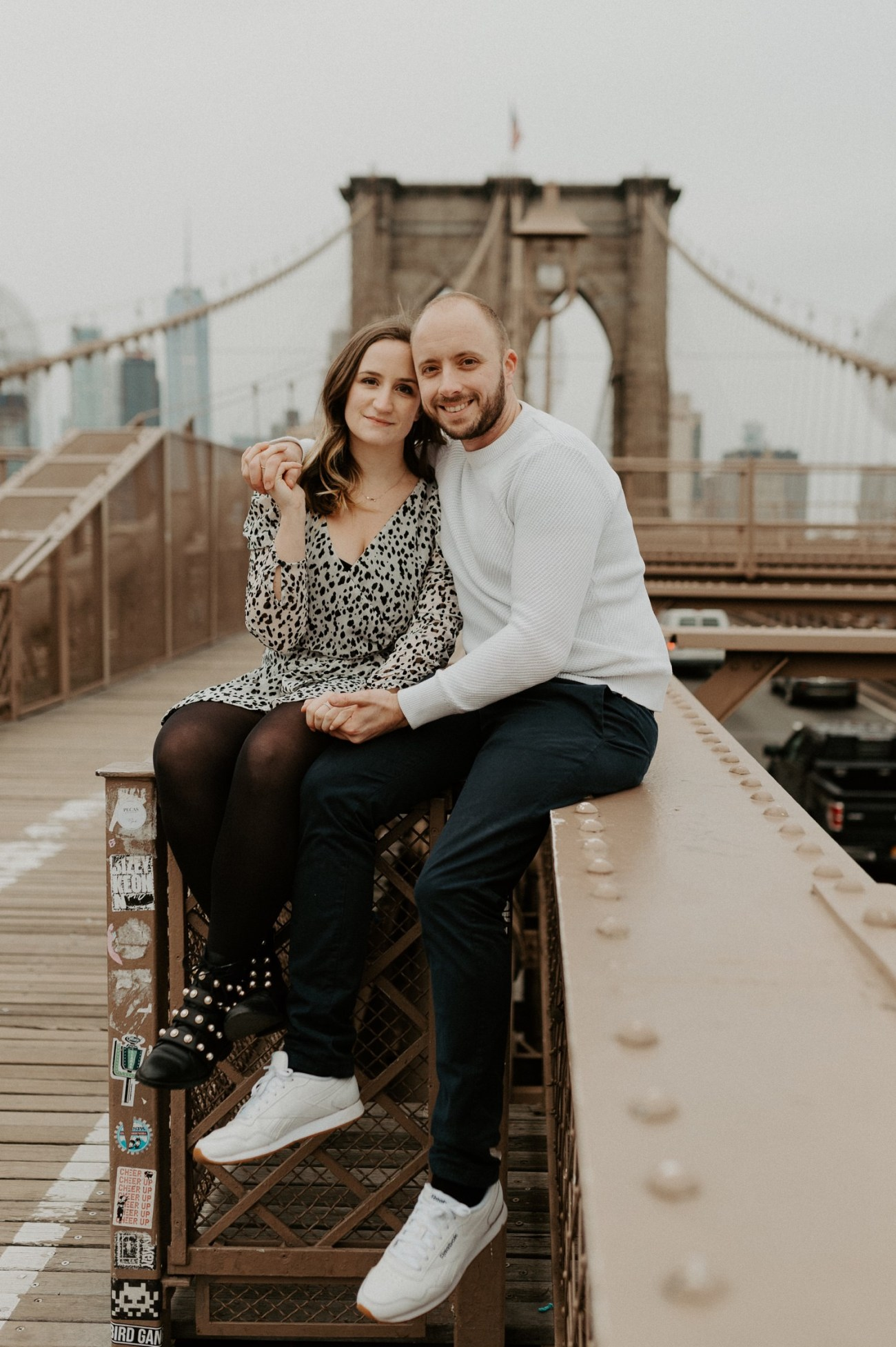 Brooklyn Bridge Engagement Photos Brooklyn Dumbo Couple Session NYC Wedding Photographer Anais Possamai Photography 12