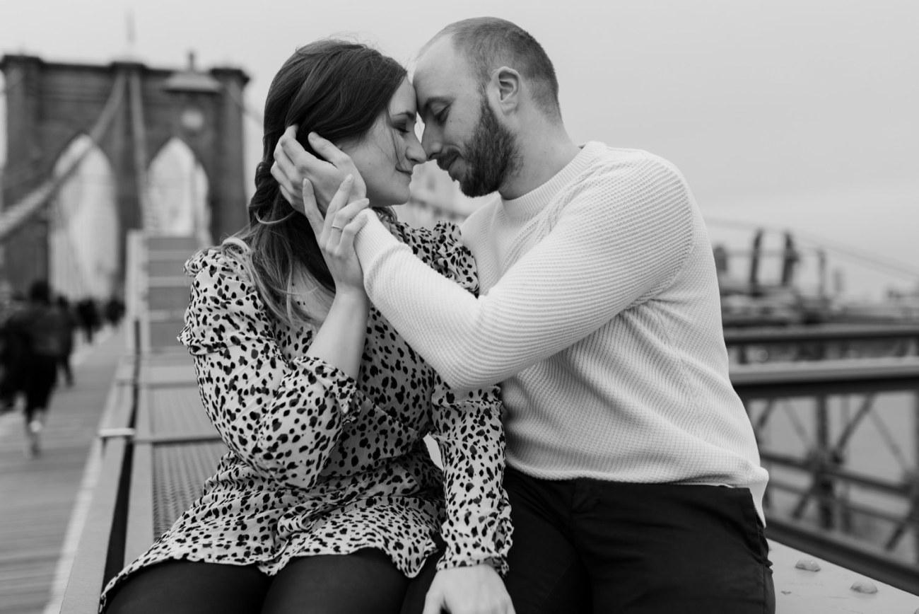 Brooklyn Bridge Engagement Photos Brooklyn Dumbo Couple Session NYC Wedding Photographer Anais Possamai Photography 13