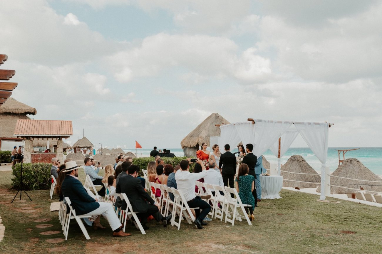 Wedding Ceremony with ocean view at the Fiesta Americana Condesa Hotel in Cancun