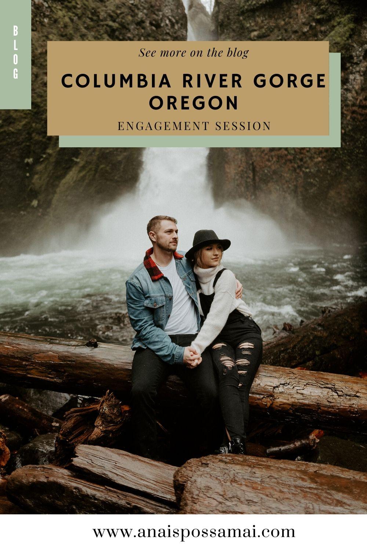 Columbia River Gorge Oregon Engagement Photos Wahclella Falls Portland Wedding Photographer Anais Possamai Photography