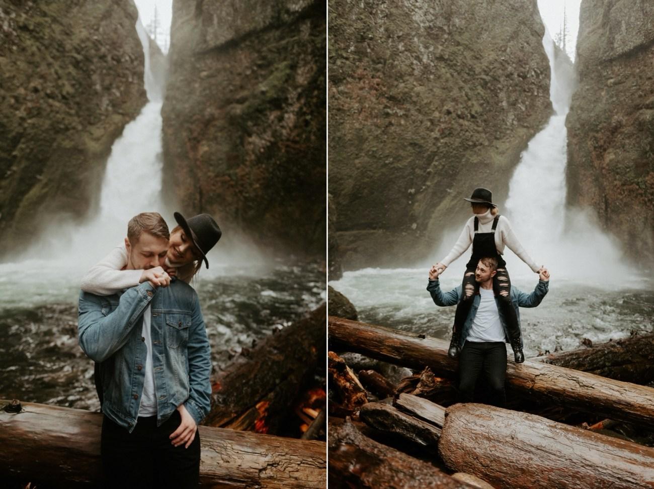 Wahclella Falls Engagement Session Columbia River Gorge Oregon Portland Wedding Photographer Anais Possamai Photography 011