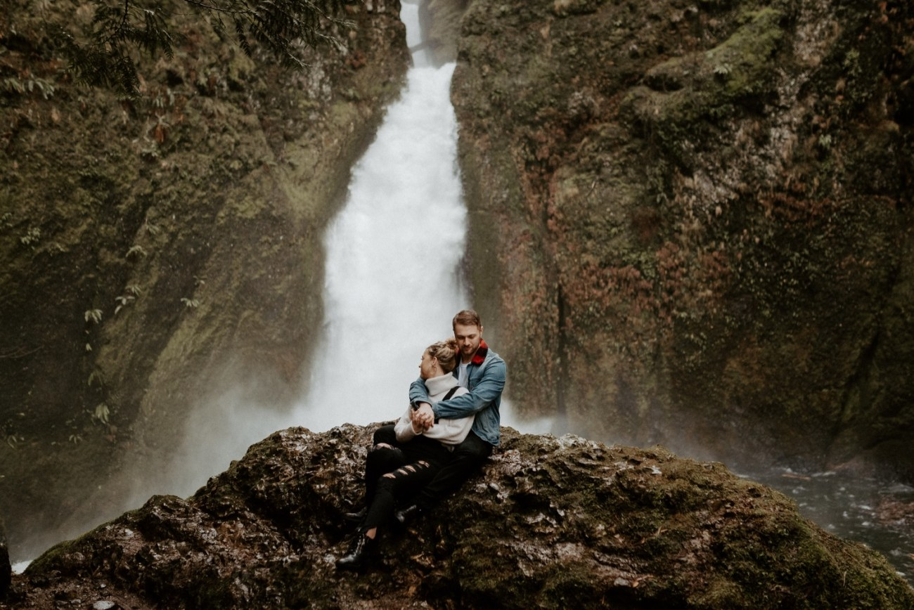Wahclella Falls Engagement Session Columbia River Gorge Oregon Portland Wedding Photographer Anais Possamai Photography 030