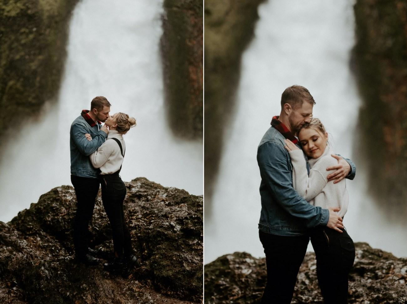 Wahclella Falls Engagement Session Columbia River Gorge Oregon Portland Wedding Photographer Anais Possamai Photography 036