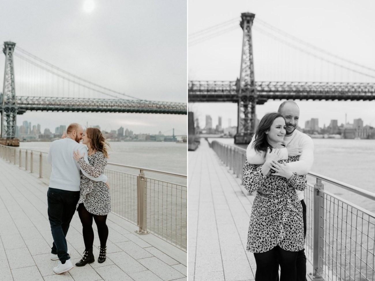 Williamsburg Brooklyn Couple Session Brooklyn Bridge Couple Photos Anais Possamai Photography 09