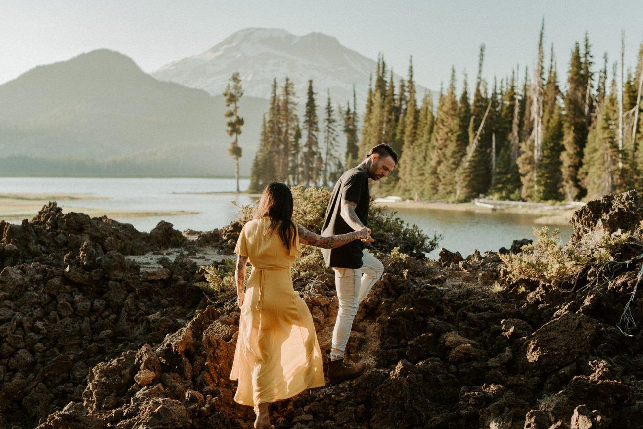 Sparks Lake Bend Oregon Elopement Bend Wedding And Elopement Photographer Anais Possamai Photography 003
