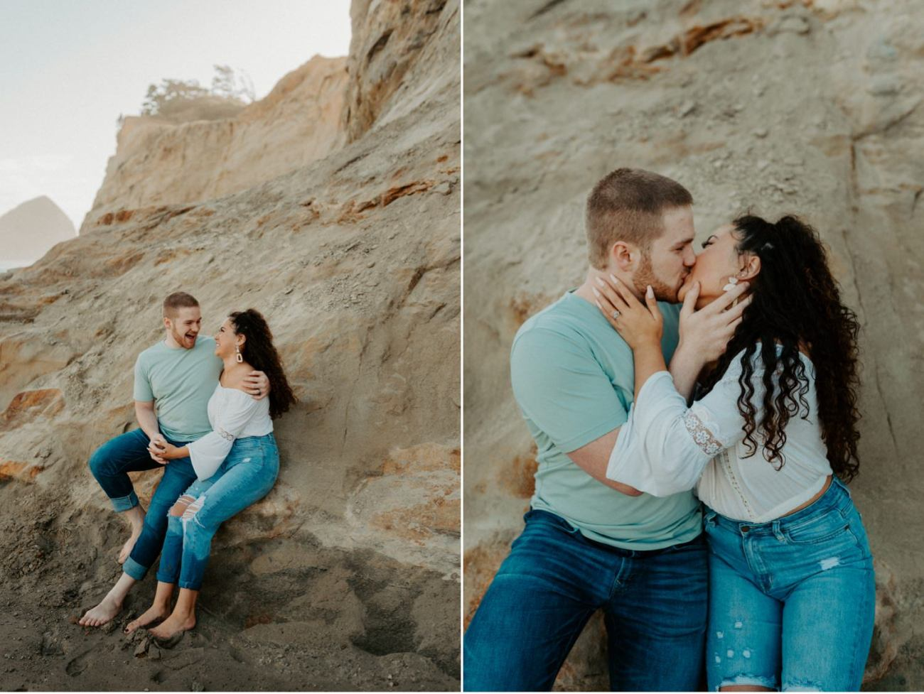 Cape Kiwanda Pacific City Oregon Couple Session Portland Wedding Photographer 014