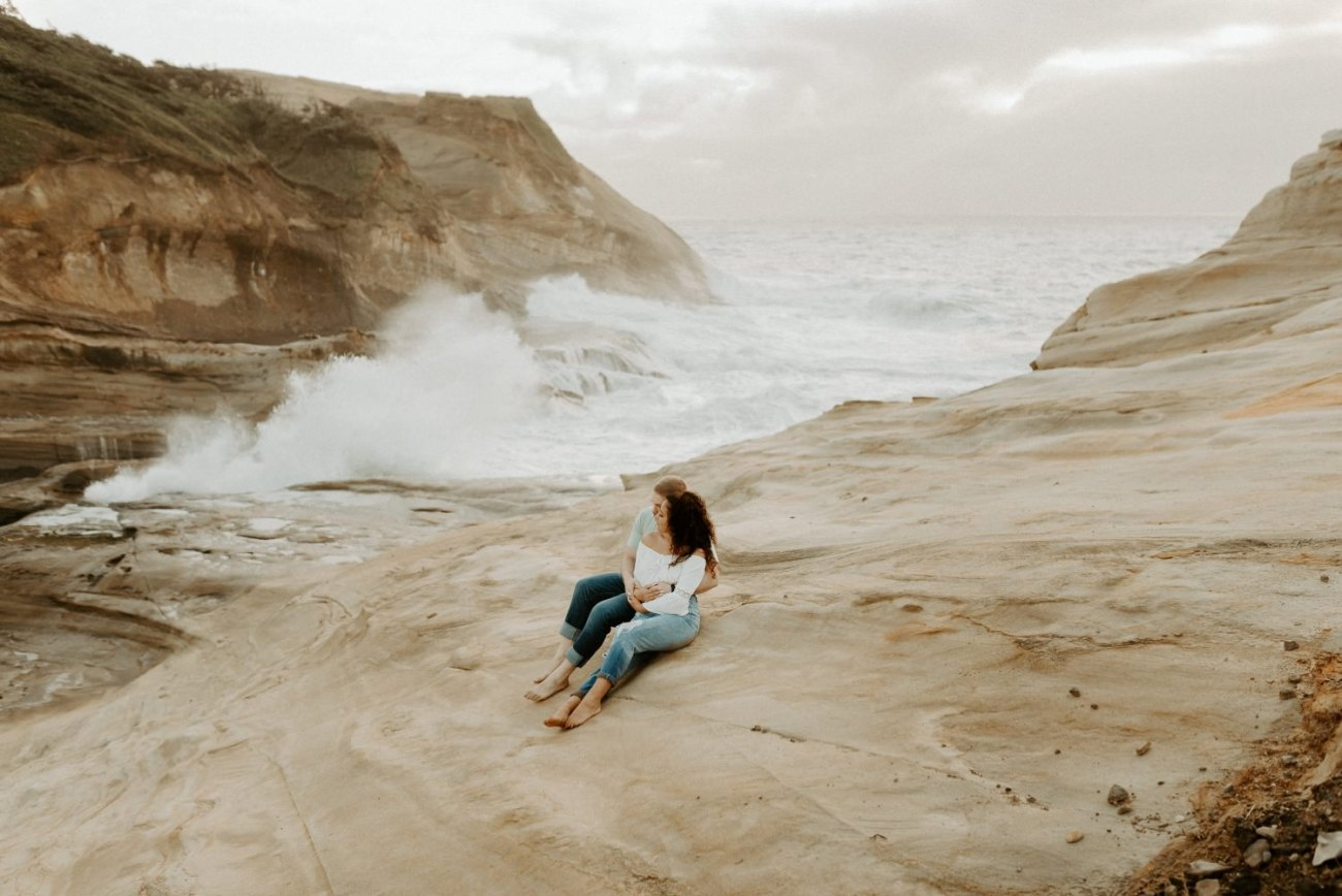 Cape Kiwanda Pacific City Oregon Couple Session Portland Wedding Photographer 023