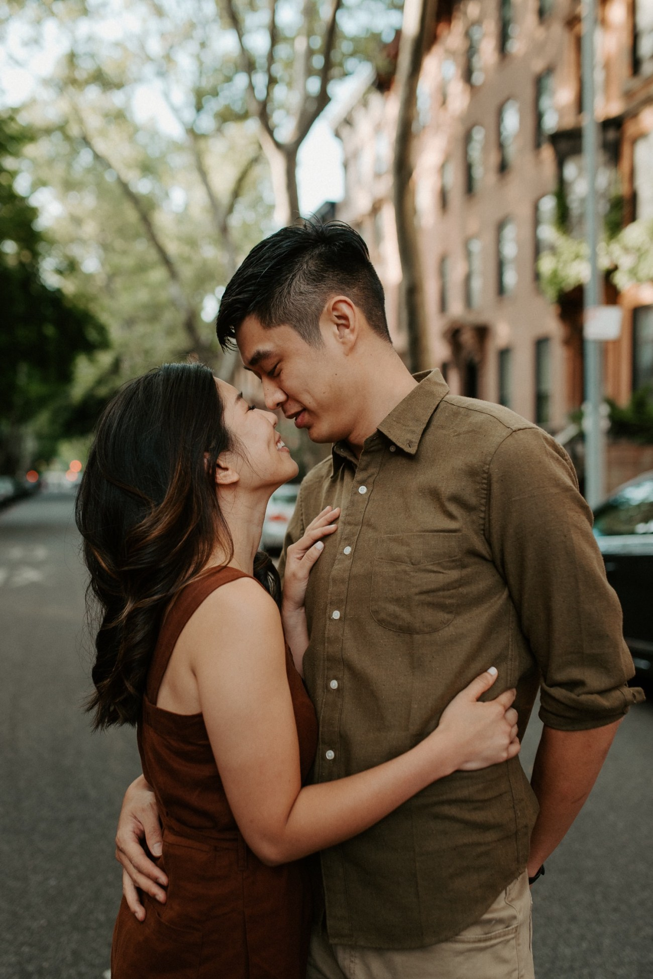 Fort Greene Brooklyn Engagement Session Brooklyn Wedding Photographer New York Wedding Photographer Anais Possamai Photography 005