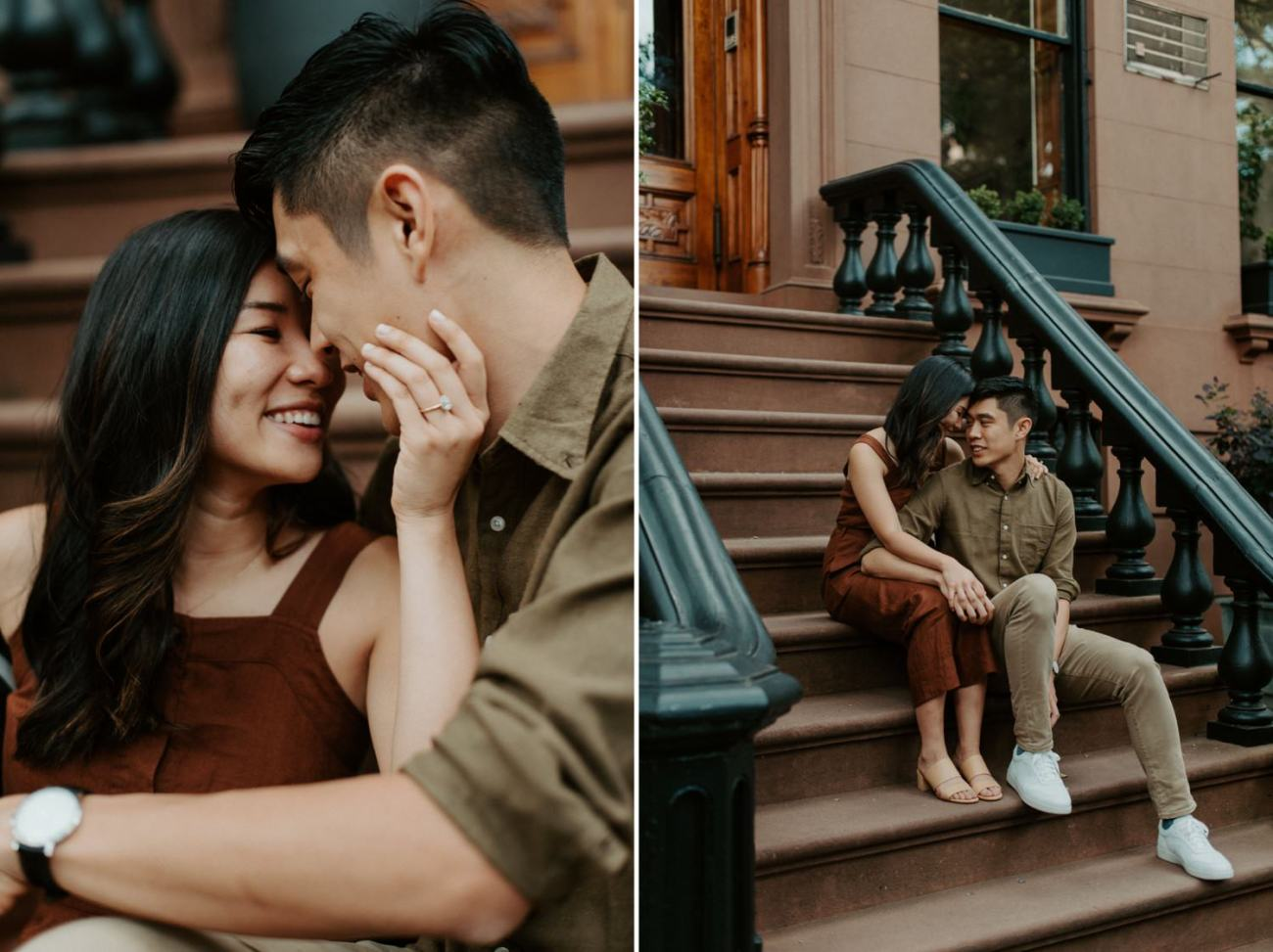 Fort Greene Brooklyn Engagement Session Brooklyn Wedding Photographer New York Wedding Photographer Anais Possamai Photography 007