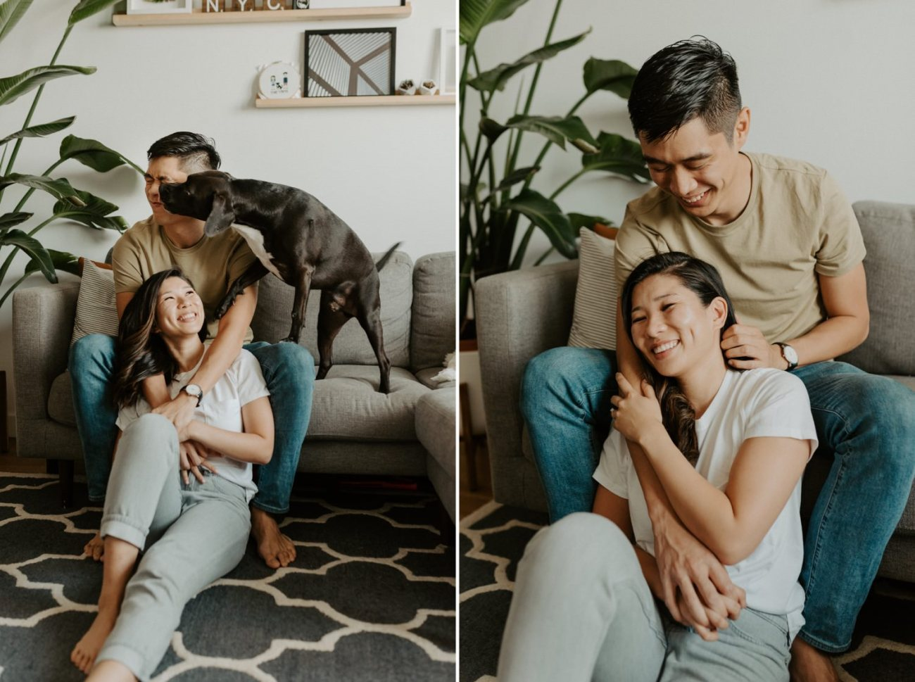 In Home Brooklyn Engagement Session New York Wedding Photographer NYC Elopement Photographer 003