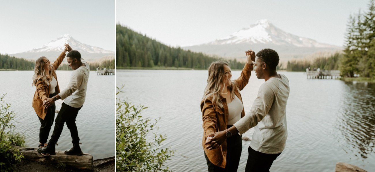 Trillium Lake Mount Hood Couple Session Engagement Session Portland Wedding Photographer Bend Elopement Photographer Anais Possamai Photography 017