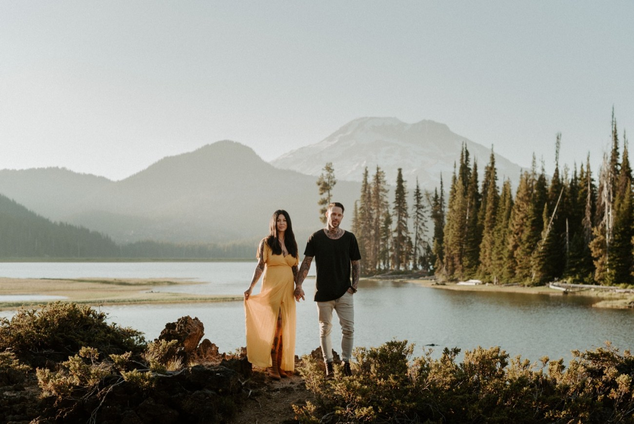 Sparks Lake Bend Oregon Elopement Bend Wedding Photographer PNW Elopement Best Elopement Locations In Oregon 007