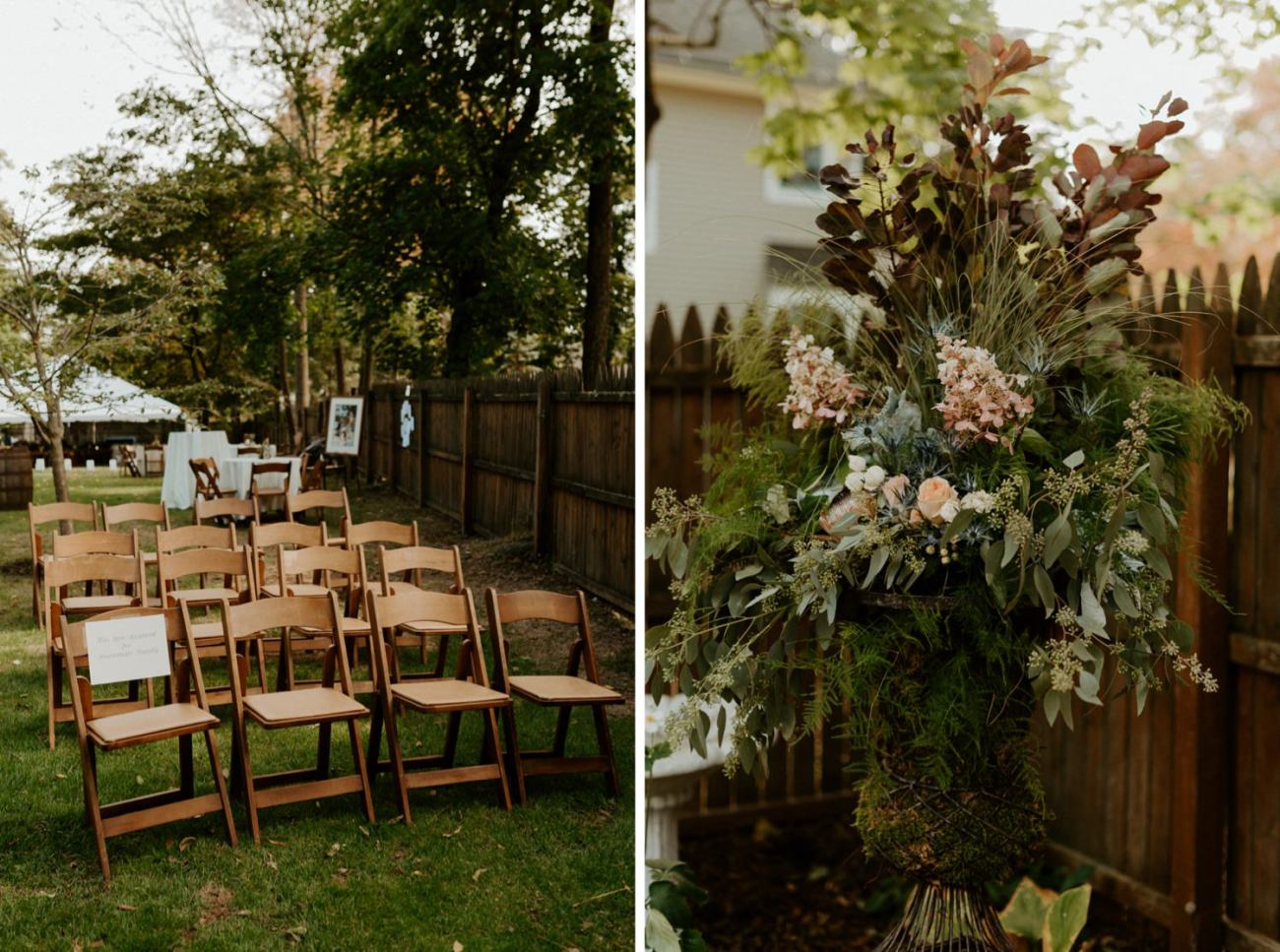 New Jersey Fall Backyard Wedding Bend Wedding Photographer NJ Wedding Photographer Anais Possamai Photography 038