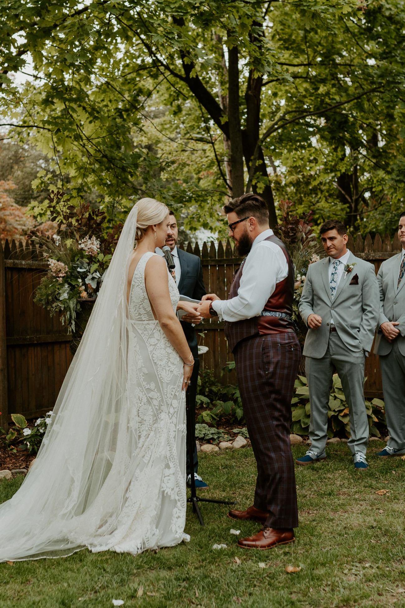 New Jersey Fall Backyard Wedding Bend Wedding Photographer NJ Wedding Photographer Anais Possamai Photography 049
