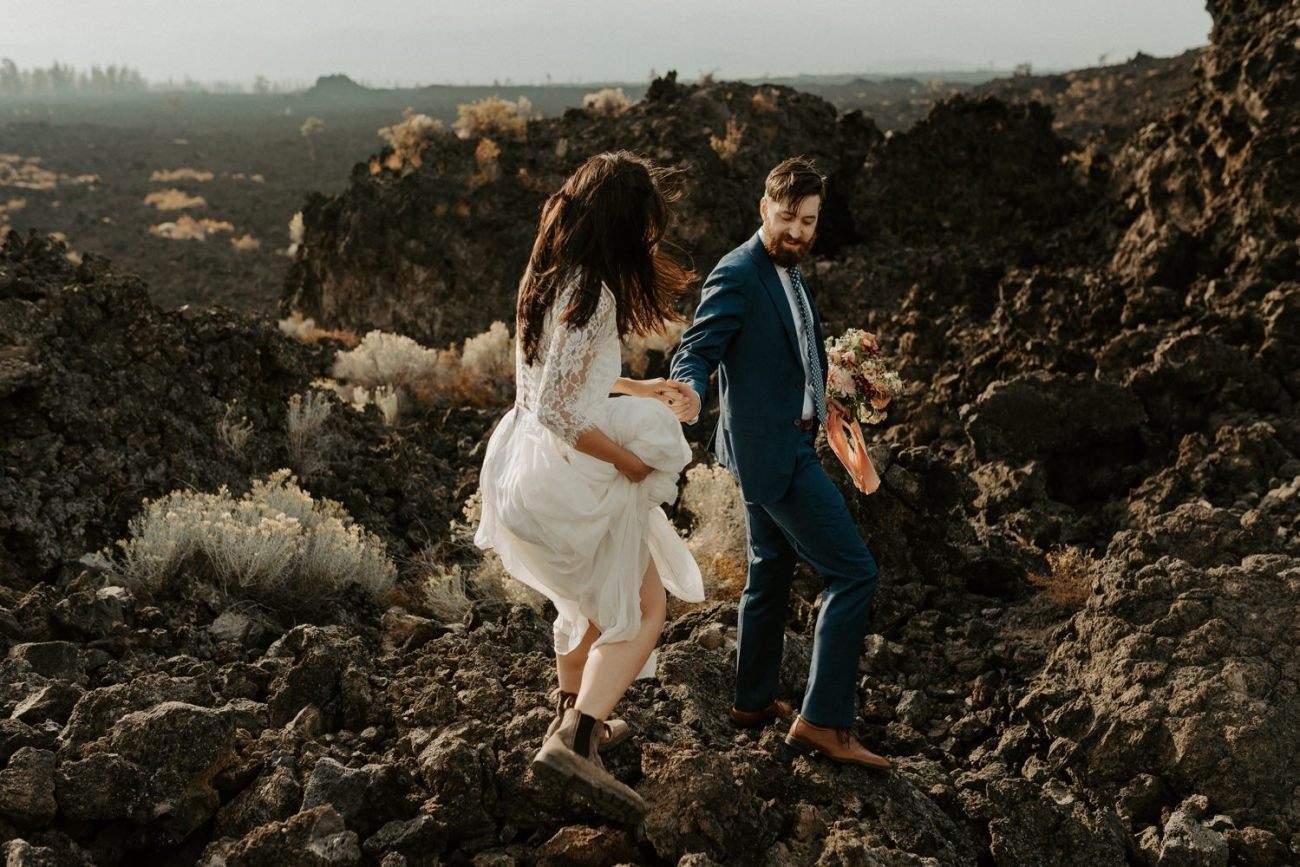 Newberry Volcano Elopement Bend Elopement Bridal Session Bend Wedding Photographer Anais Possamai Photography 022