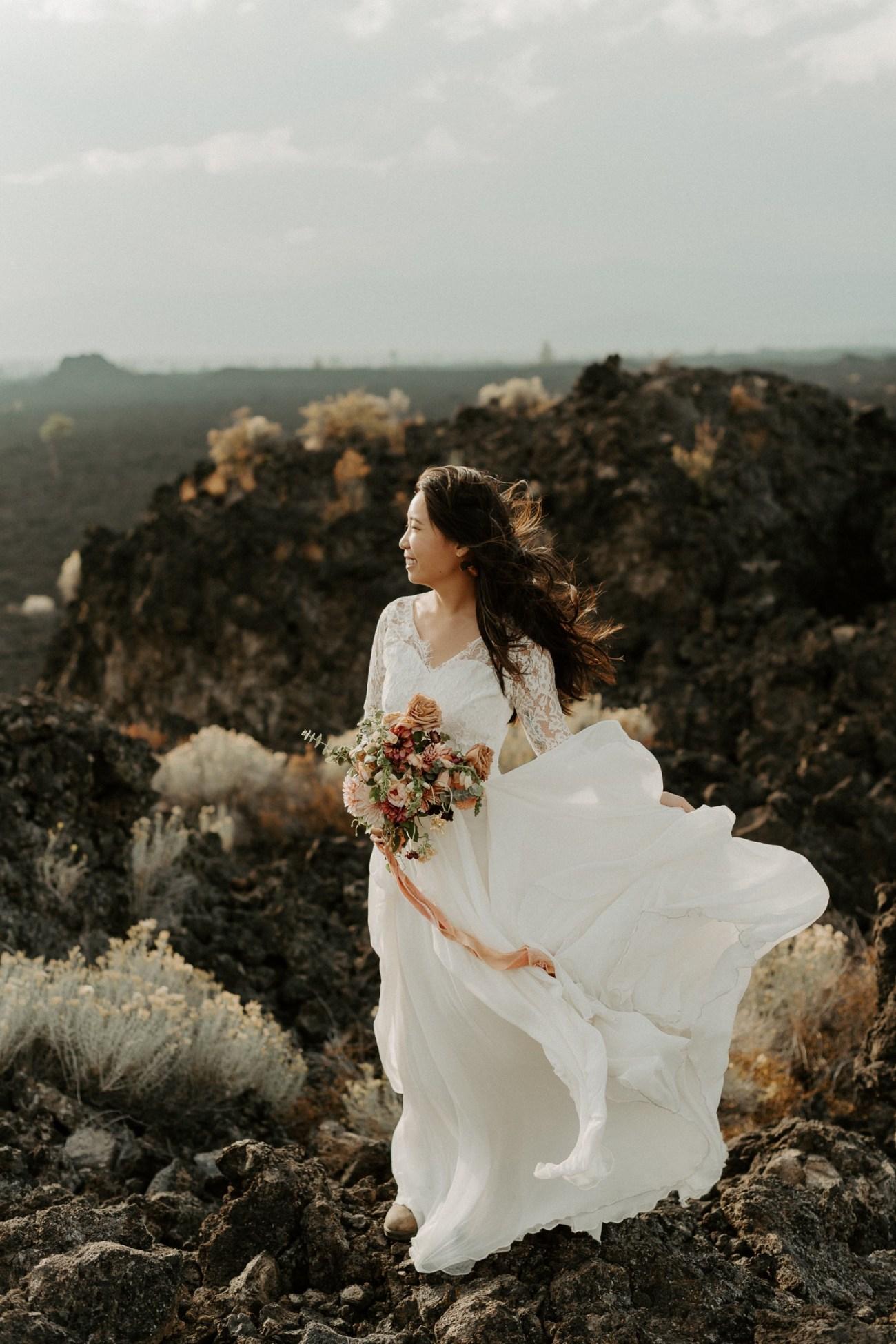Newberry Volcano Elopement Bend Elopement Bridal Session Bend Wedding Photographer Anais Possamai Photography 027
