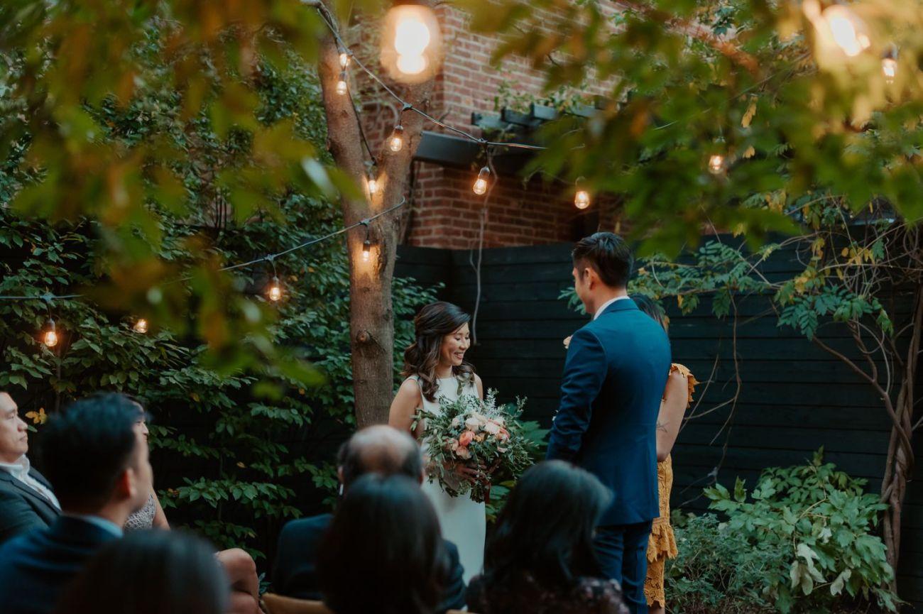 Brooklyn Backyard Wedding In Brownstone House New York City Wedding Photographer Anais Possamai Photography 15