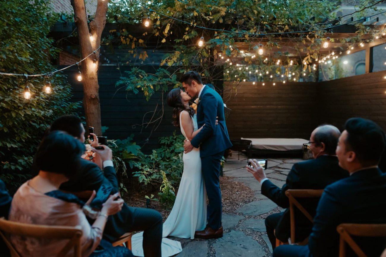 Brooklyn Backyard Wedding In Brownstone House New York City Wedding Photographer Anais Possamai Photography 17