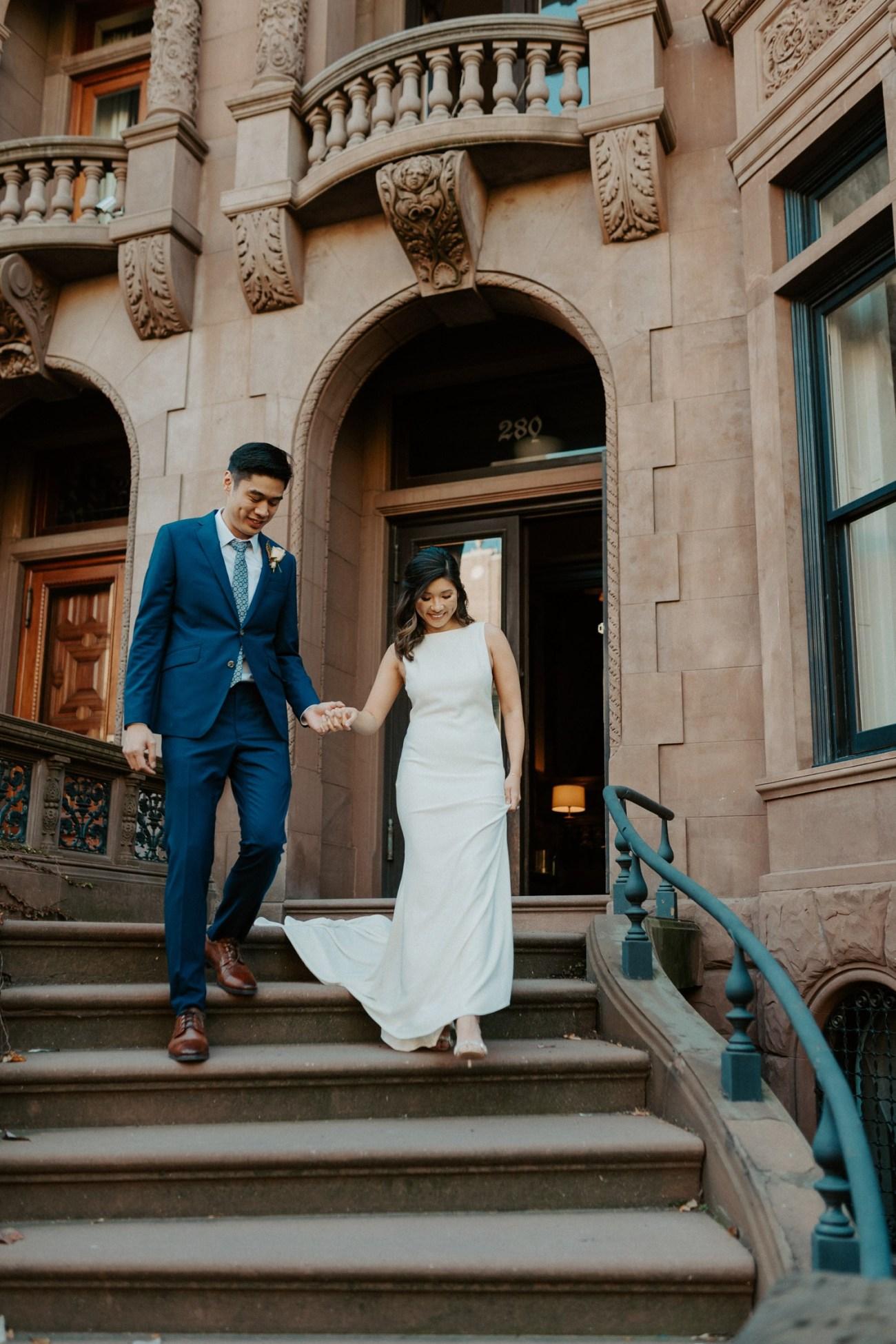 Brooklyn Brownstone House Backyard Wedding New York Wedding Photographer Anais Possamai Photography 15