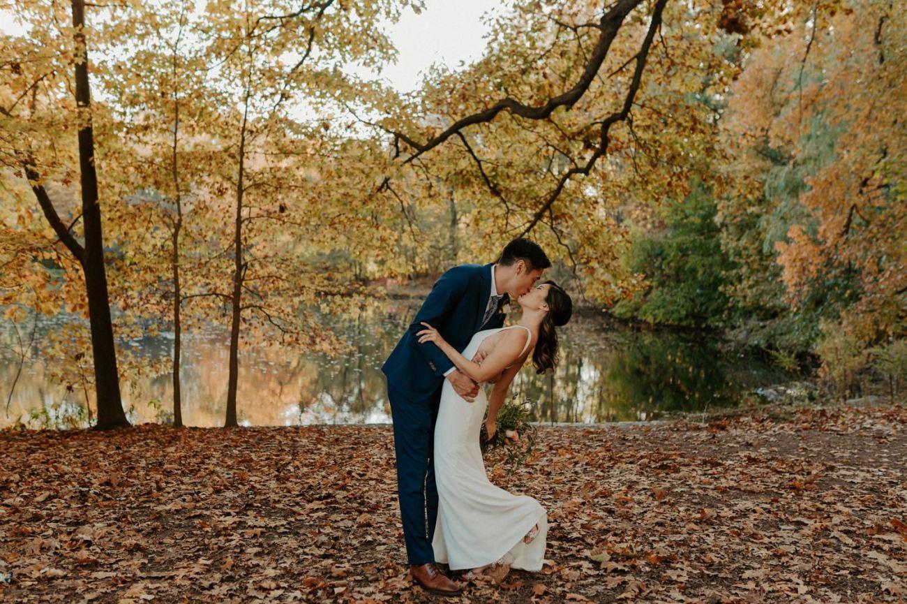 Prospect Park Brooklyn Wedding Fall Wedding In NYC New York Wedding Photographer Anais Possamai Photography 13