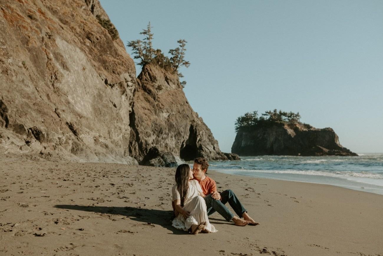 Oregon Coast Brookings Engagement Session Anais Possamai Photography 11