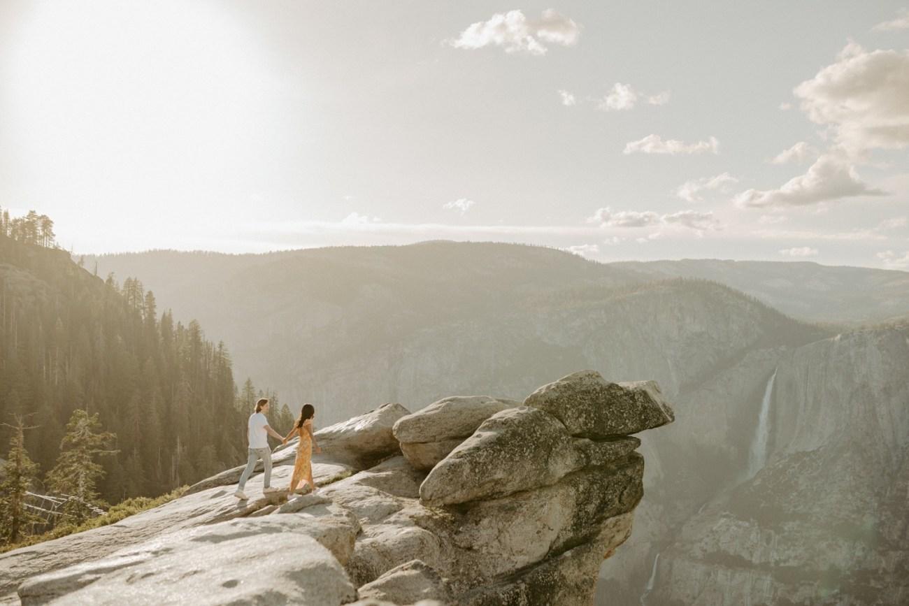 Sunset Yosemite Glacier Point Engagement Session Anais Possamai Photography 01