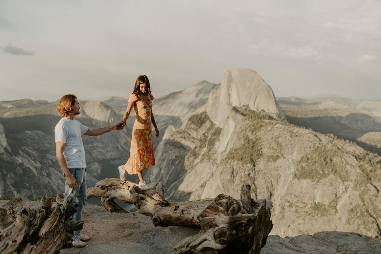 Sunset Yosemite Glacier Point Engagement Session Anais Possamai Photography 07