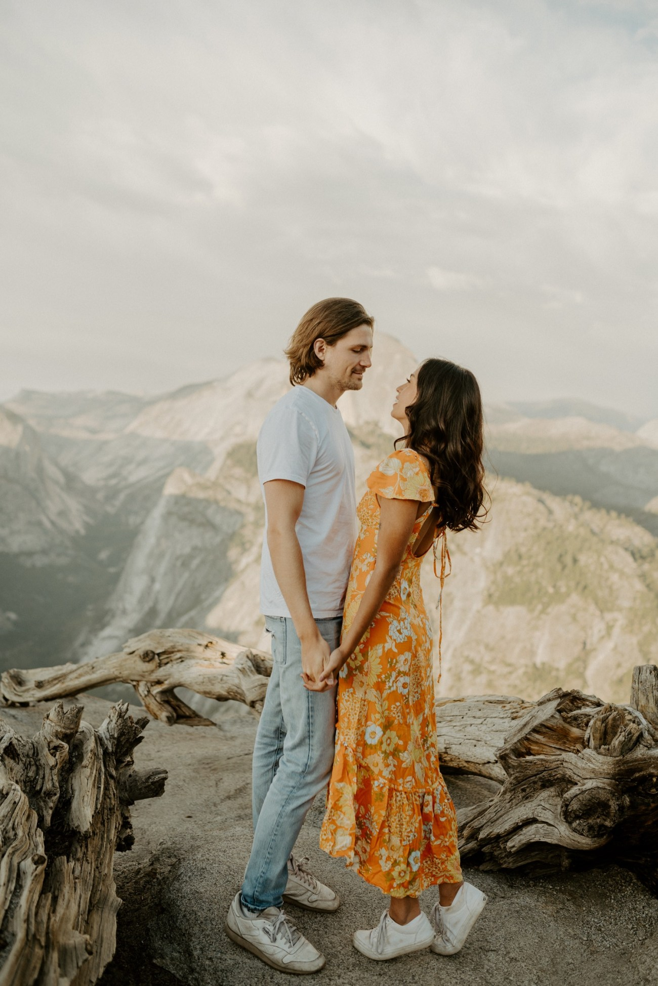 Sunset Yosemite Glacier Point Engagement Session Anais Possamai Photography 14