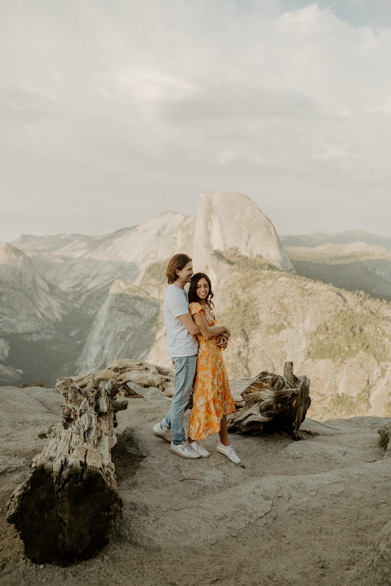 Sunset Yosemite Glacier Point Engagement Session Anais Possamai Photography 17