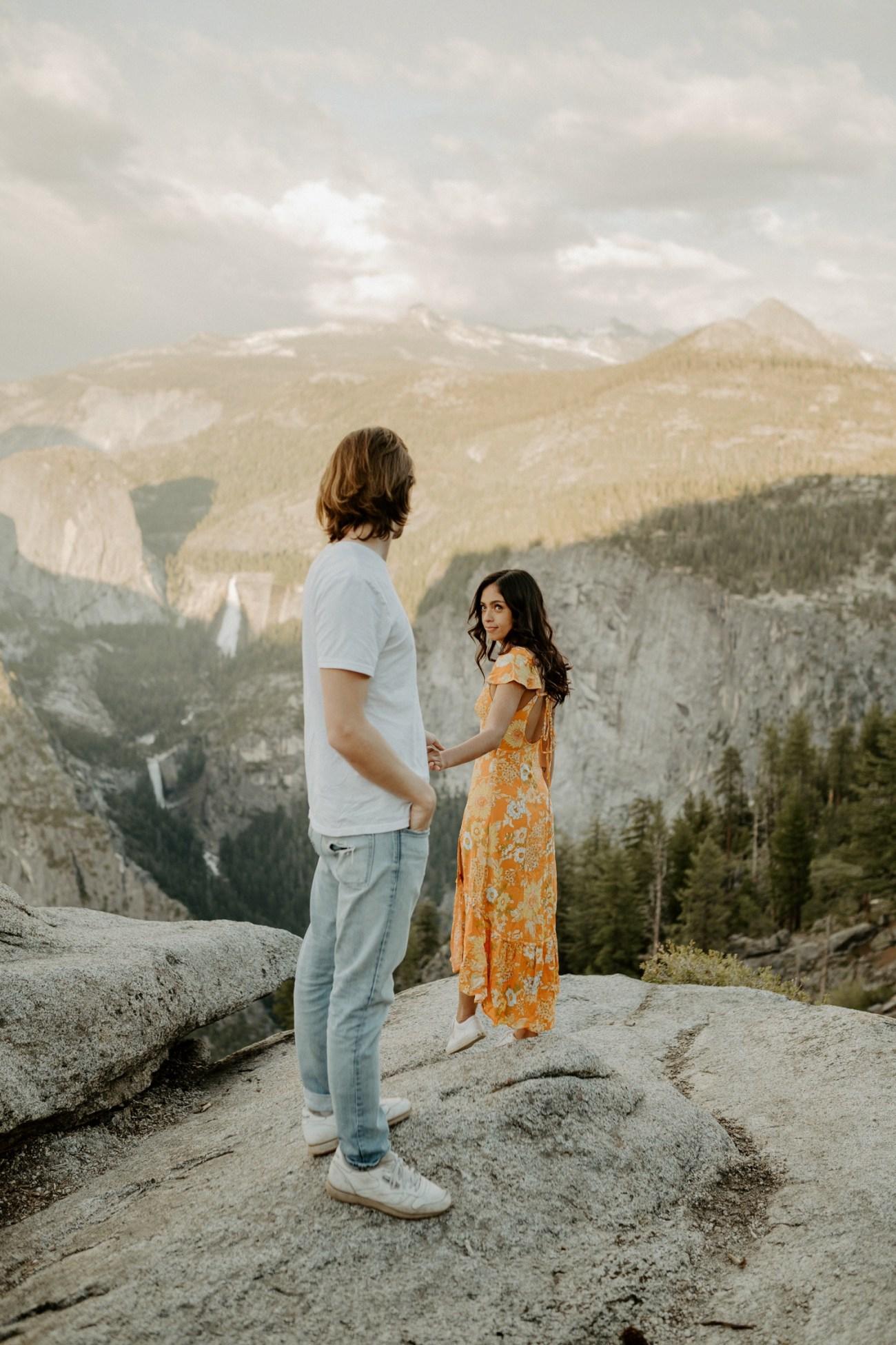 Sunset Yosemite Glacier Point Engagement Session Anais Possamai Photography 18