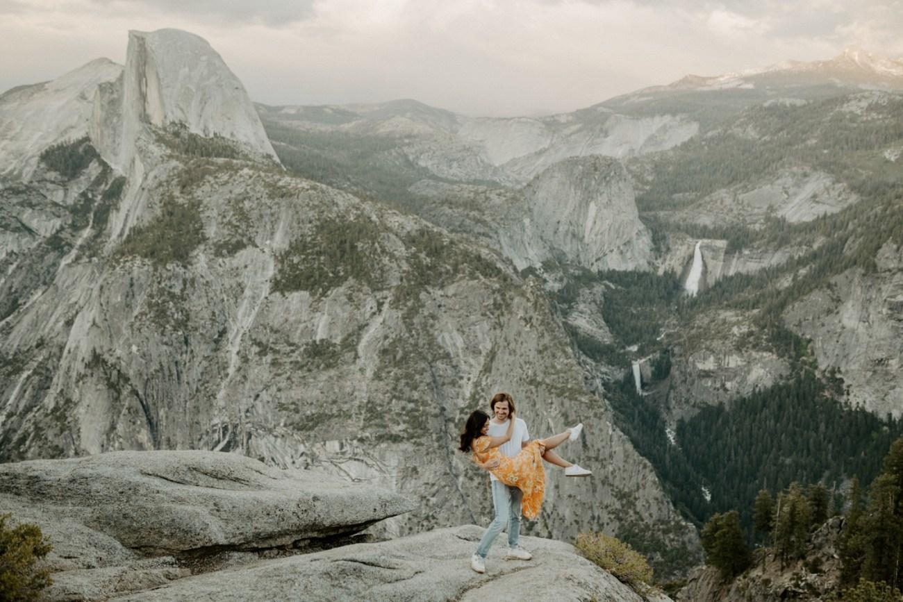 Sunset Yosemite Glacier Point Engagement Session Anais Possamai Photography 29