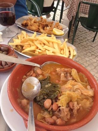 """Our Lunch """"Chocos fritos e feijoada à transmontana"""""""