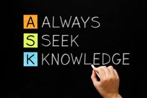 Always Seek Knowledge Acronym