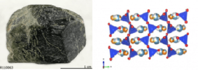 batu augite dan struktur kristalnya