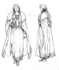 Cyriathe, character design