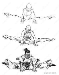 Pose construction based on skeleton sketch (08).