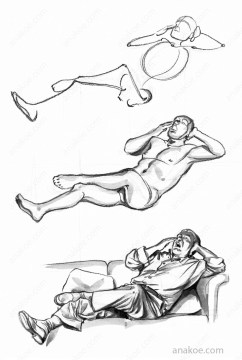 Pose construction based on skeleton sketch (04).