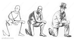 Pose construction based on skeleton sketch (03).