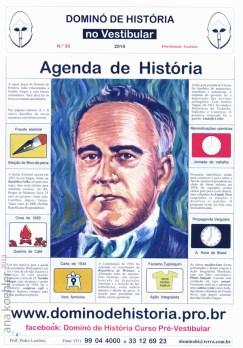 Folder do Dominó de História, curso do prof. Pedro Dario Lima Lairihoy.