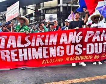 Peasants call for the ouster of the Duterte regime.
